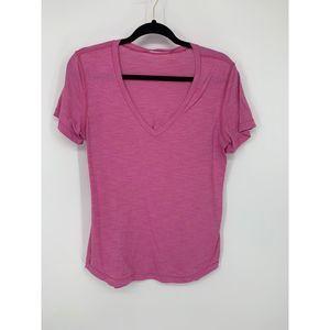 Lululemon pink v neck open slit back 12